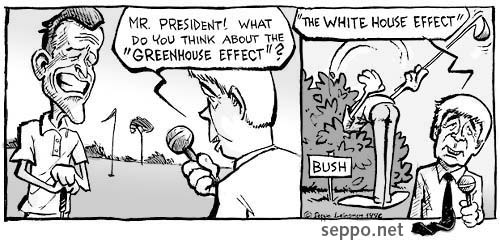 George Bush - the green house effect - 1992