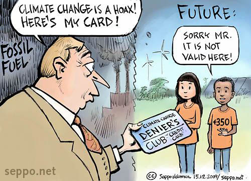 Climate change deniers credit card