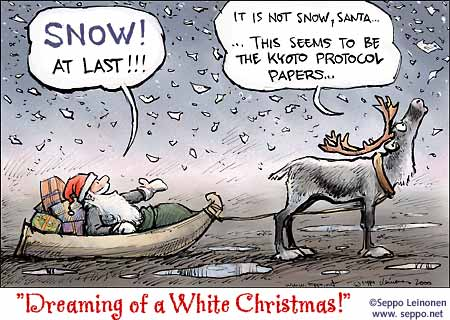 Santa finds snow