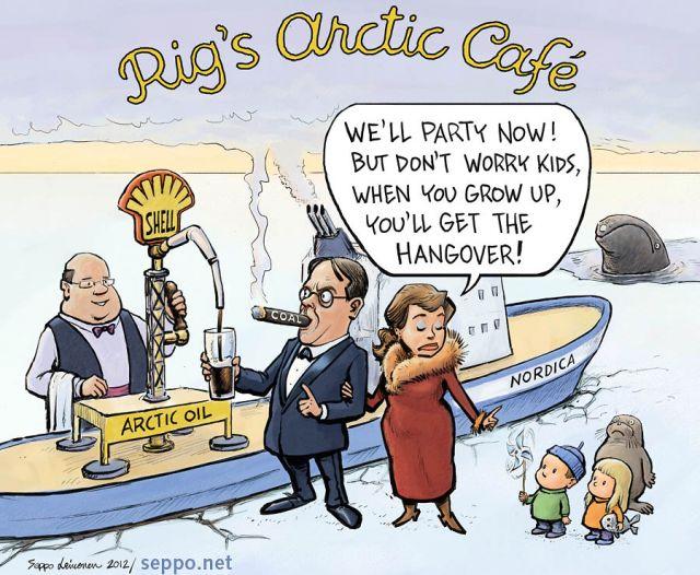 Rigs Arctic Café - Shell drilling Arctic oil