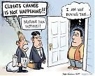 Global warming sceptics - door-to-door peddlers