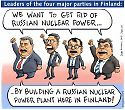 Finnish top politicians and russian nuclear power