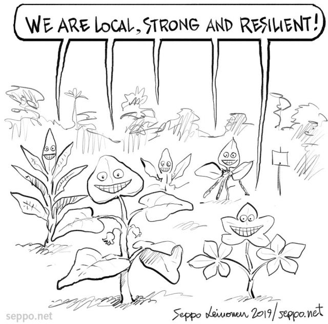 Indigenous local plants are resilient