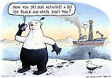 Polar Bear and Arctic oil Exploration