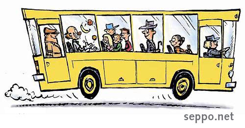 Traffic Bus Public Transportation Environmental Cartoons