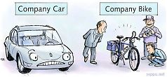 Climate - company car versus company bike