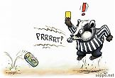 Badger as referee – stop littering