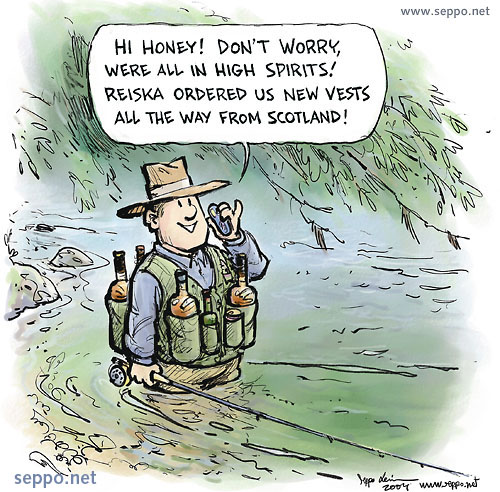 Fly fishing quotes funny quotesgram for Funny fishing cartoons
