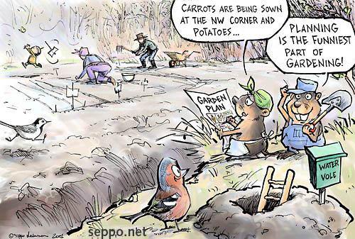 Gardening Garden planning Environmental Cartoons – Spring Garden Planning