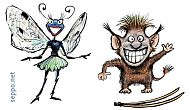 Troll and spreadwing fairy