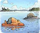 Summer Holidays Man and a Saimaa Seal
