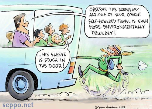 Environmentally friendly forms of travel