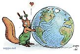 Squirrel and Globe