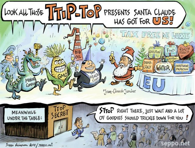 TTIP - EU and Santa Claude