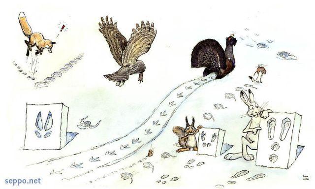 Bien-aimé Animals - Animal tracks in snow - Environmental Cartoons NR81