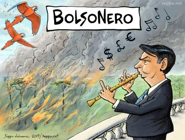 Jair Bolsonero burns Amazonas