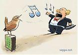 Song contest Eurasian Wren vs. Opera Singer