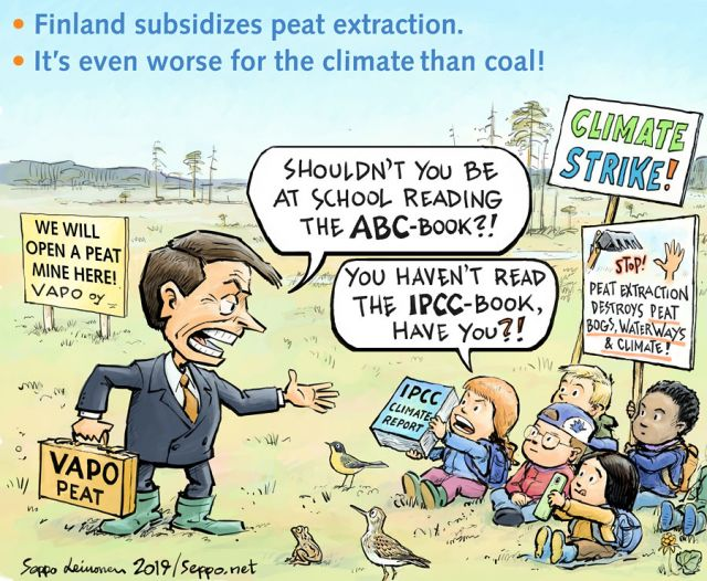 Peat burning and school climate strike
