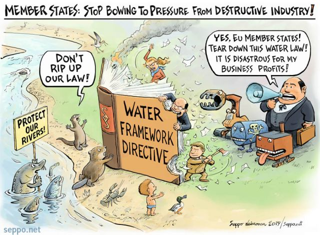 Water framework directive is in danger