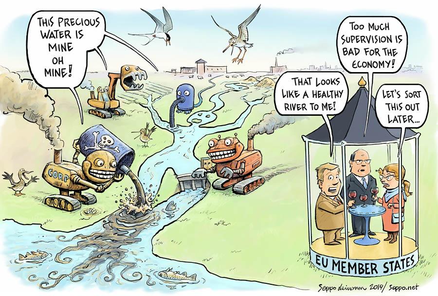 Water framework directive in danger
