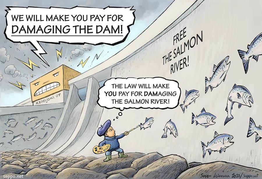 Hydro power company makes activist pay