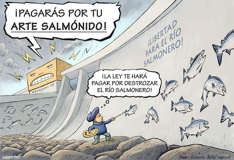 ¡Libertad para el río salmonero Kemijoki!