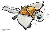Flying squirrel with backpack