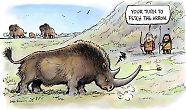 The Woolly Rhino and paleolithic hunters