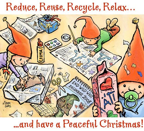 Christmas Cards - Seasons Creetings - Reduce, Reuse ...