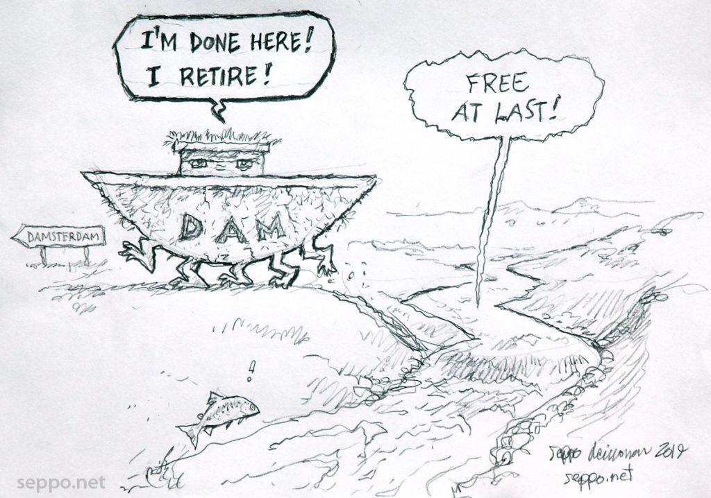 Dam retires