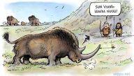 Kivikauden metsästäjät ja villasarvikuono