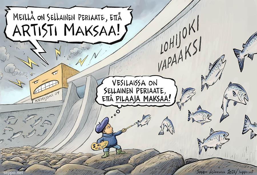 Kemijoki Oy ja artisti maksaa -periaate
