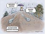 Sadepisarat vedenjakajalla