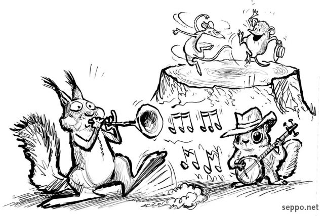 jazz cartoon art