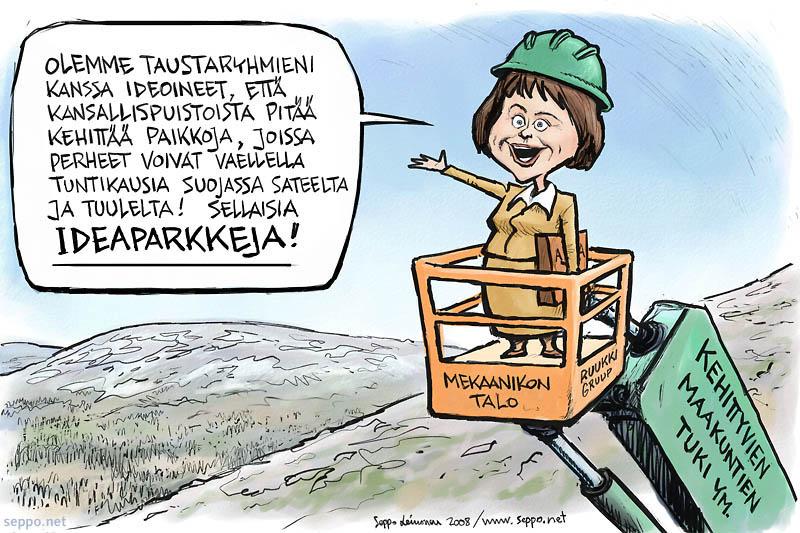 Paula Lehtomäki kehittää kansallispuistoja
