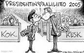 Vanhanen ja Niinistö presidentinvaaliliitto