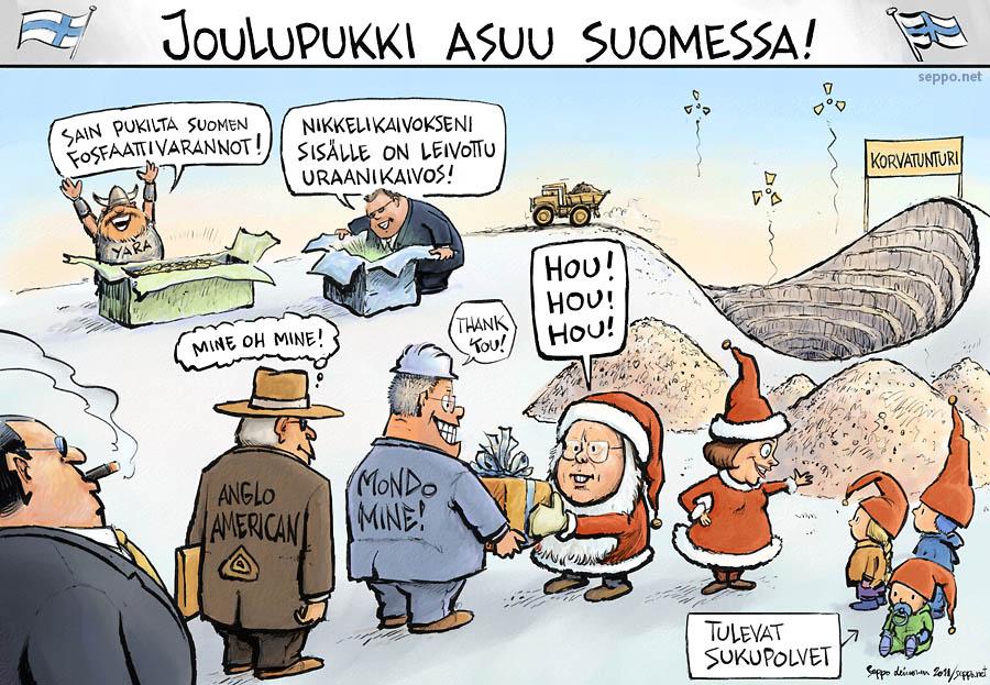 Joulupukki - Monikansalliset kaivosyhtiöt valtaavat Suomen