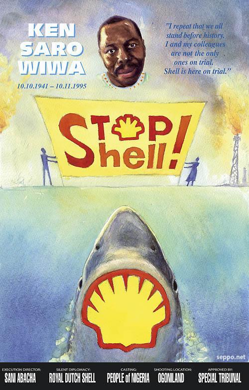 Stop Shell - Ken Saro Wiwa juliste