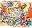 Joulukortti - itse tehty lahjapakkaus