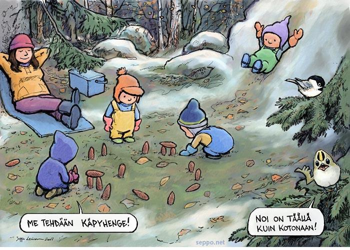 Päiväkotilapset luonnossa