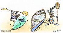 Kajakki ja intiaanikanootti
