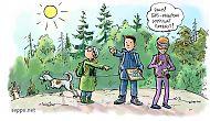Suunnistajat metsässä