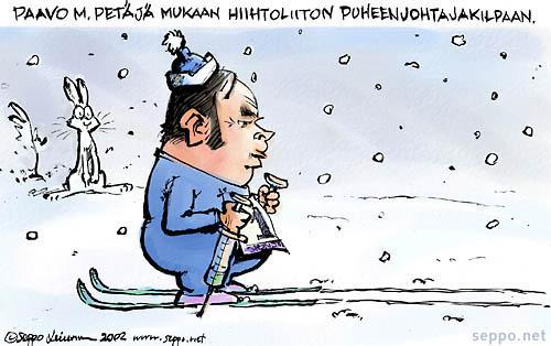 Paavo M. Petäjä hiihtoliiton puheenjohtajakilpaan