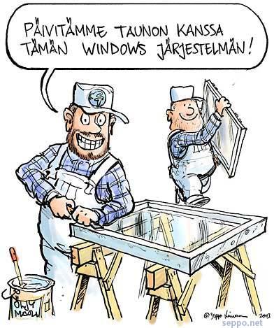 Windows-järjestelmän päivitys