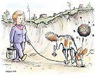 Sienikoira vainuaa kemikaalin maaperässä