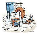 Orava kunnostaa vanhaa kaappia