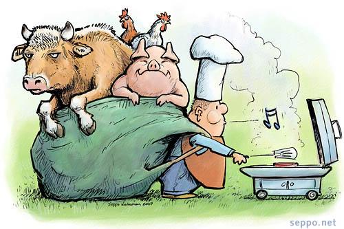 Liika lihansyönti kuluttaa luonnonvaroja