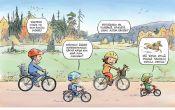 Perhe pyöräilee