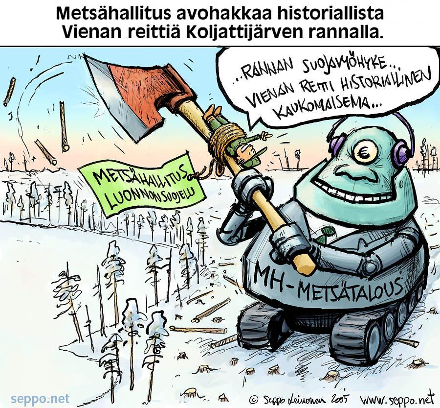 Metsähallitus avohakkaa historiallista Vienan reittiä