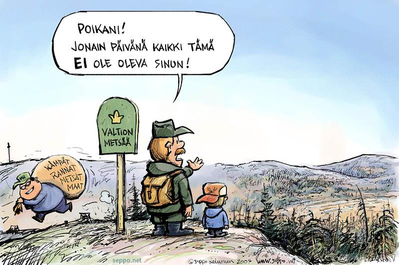 Valtion metsät myytävänä